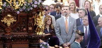El Rey en Sevilla un Lunes Santo