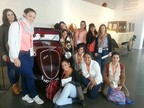 Las alumnas, en un momento del congreso sobre tecnologías.