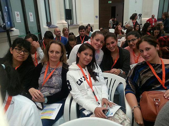 Alumnos durante la celebración del congreso.