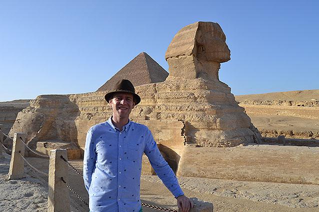 Uno de sus viajes más recientes fue a Egipto.