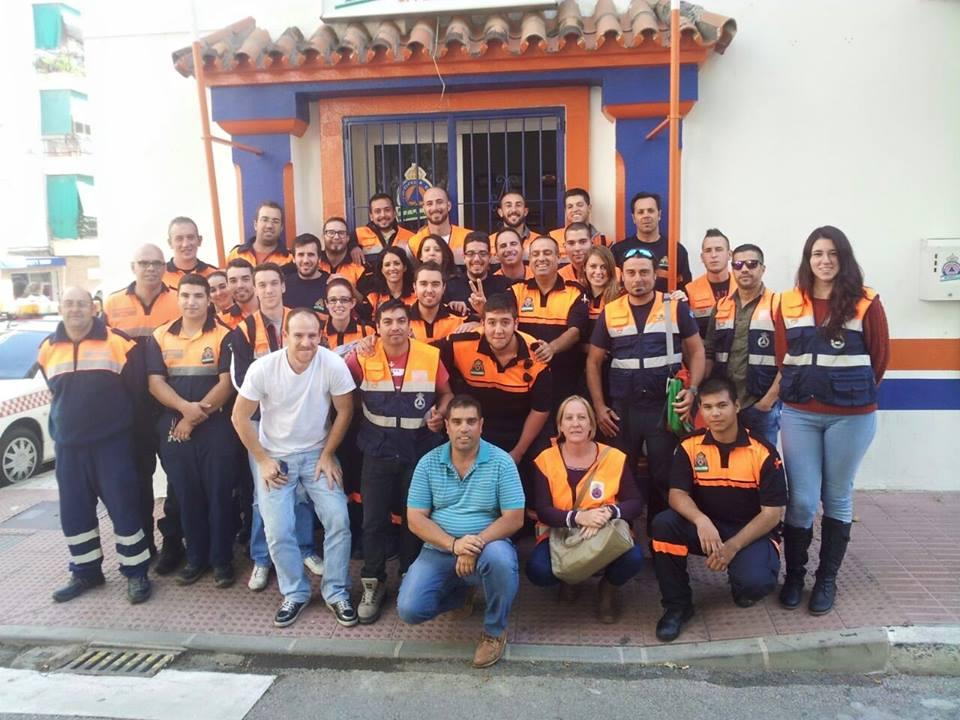 Integrantes de Protección Civil.