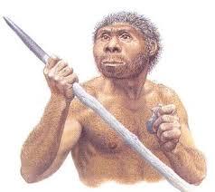Esto es un Homo Eructus, descendiente del Homo Sapiens.