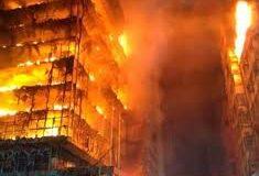 Edificio de Sao Paulo derrumbado por incendio