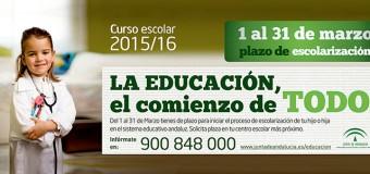 Se Inicia el Proceso de Escolarización Para el Curso 2015/16