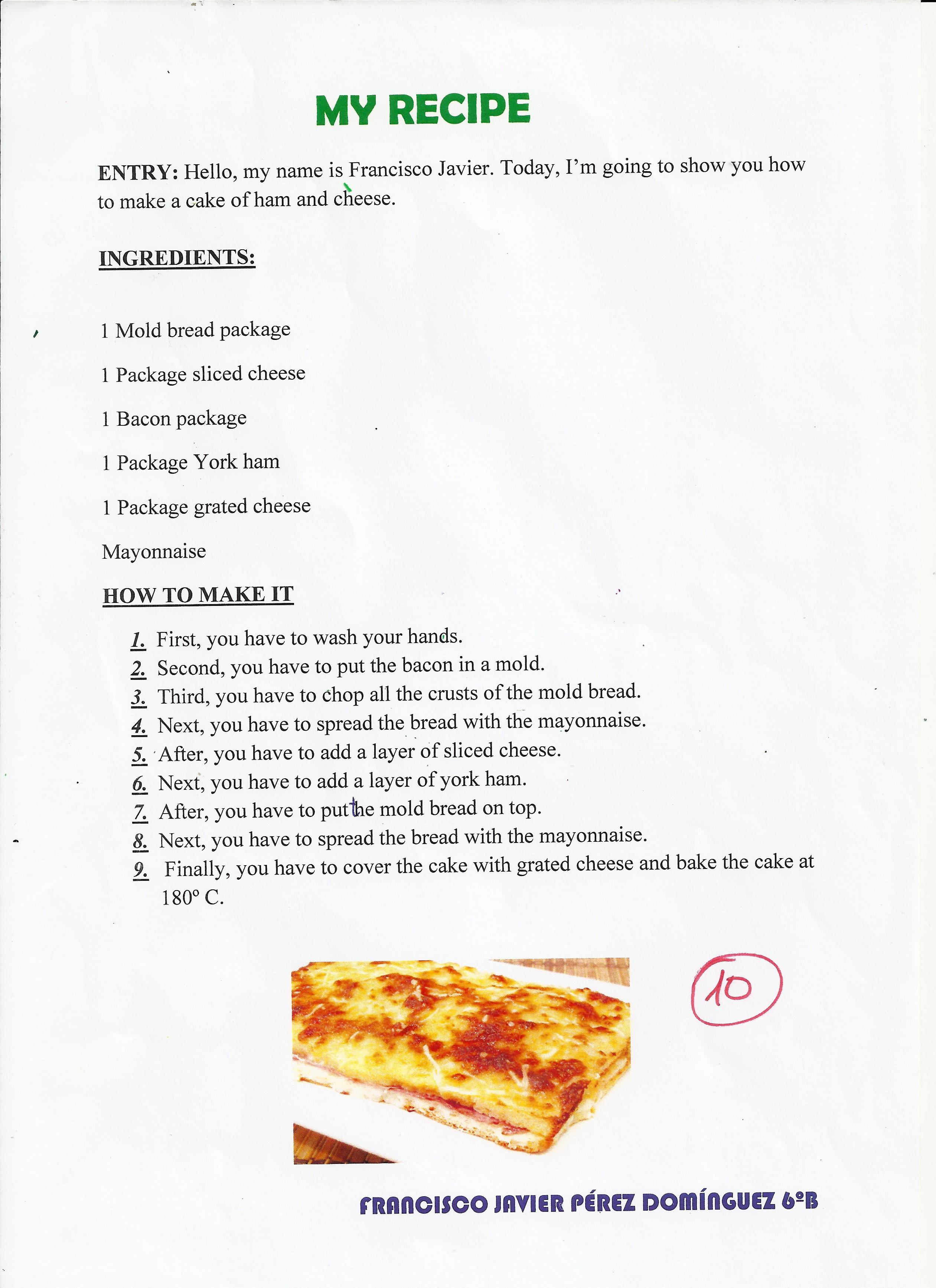 Image Result For Recetas De Cocina Cortas En Ingles