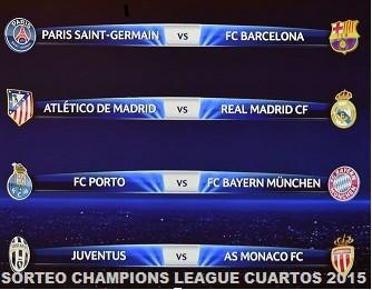 Sorteo Champions League cuartos de final 2015 | Soto, Caballo y Rey