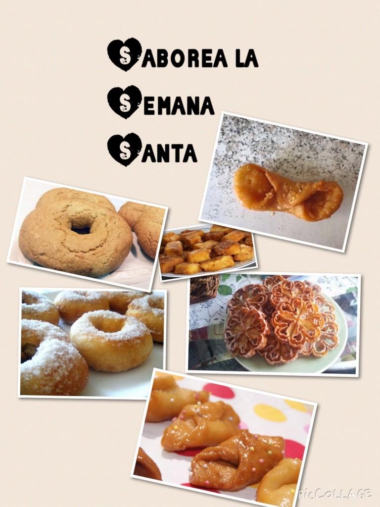 Cartel de dulces típicos de Semana Santa